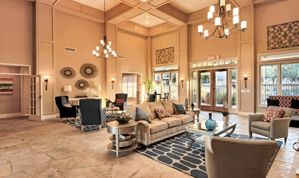Clubhouse interior at Salado Springs Apartments in San Antonio, TX