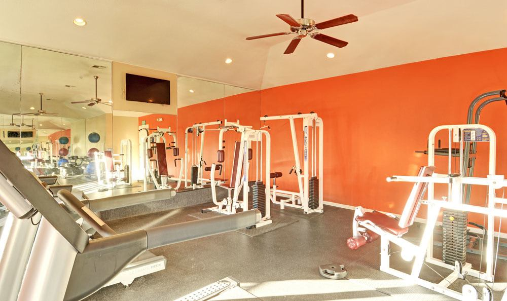 24 hour fitness center at Salado Springs Apartments in San Antonio, TX