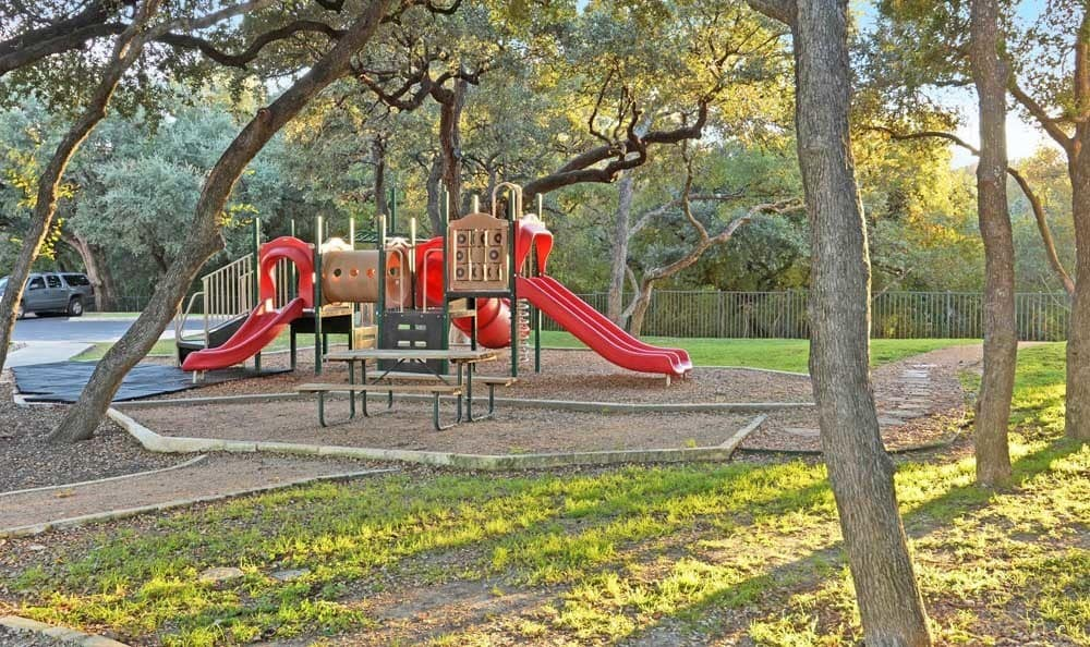 Playground at apartments in San Antonio, Texas