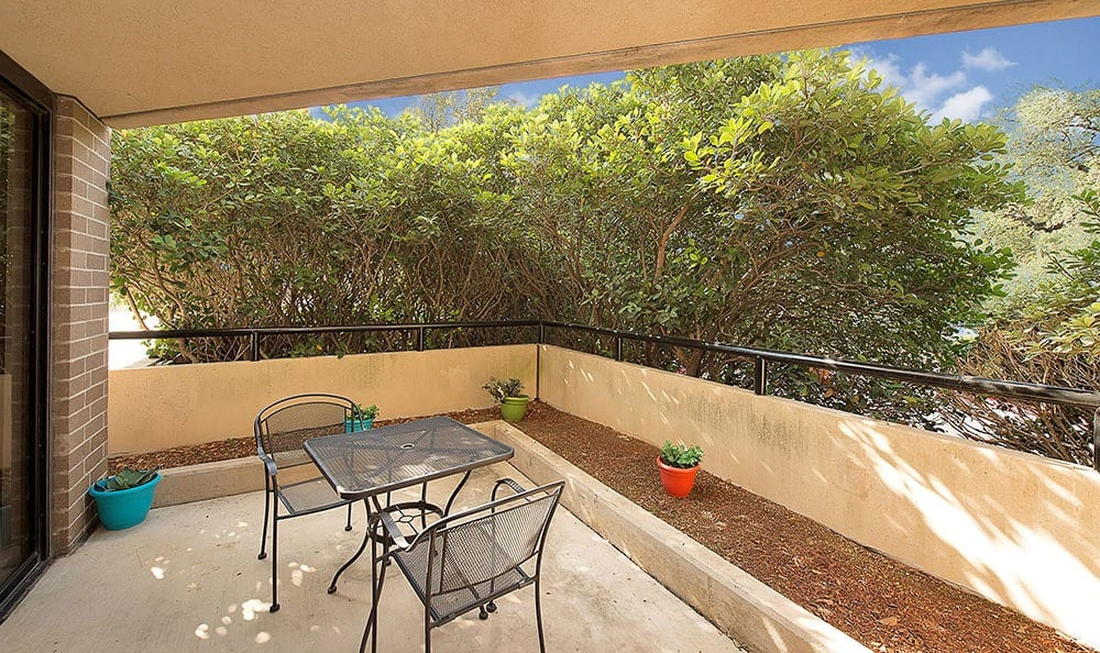 Balcony or patio at The Enclave at 1550 Apartments apartments for rent