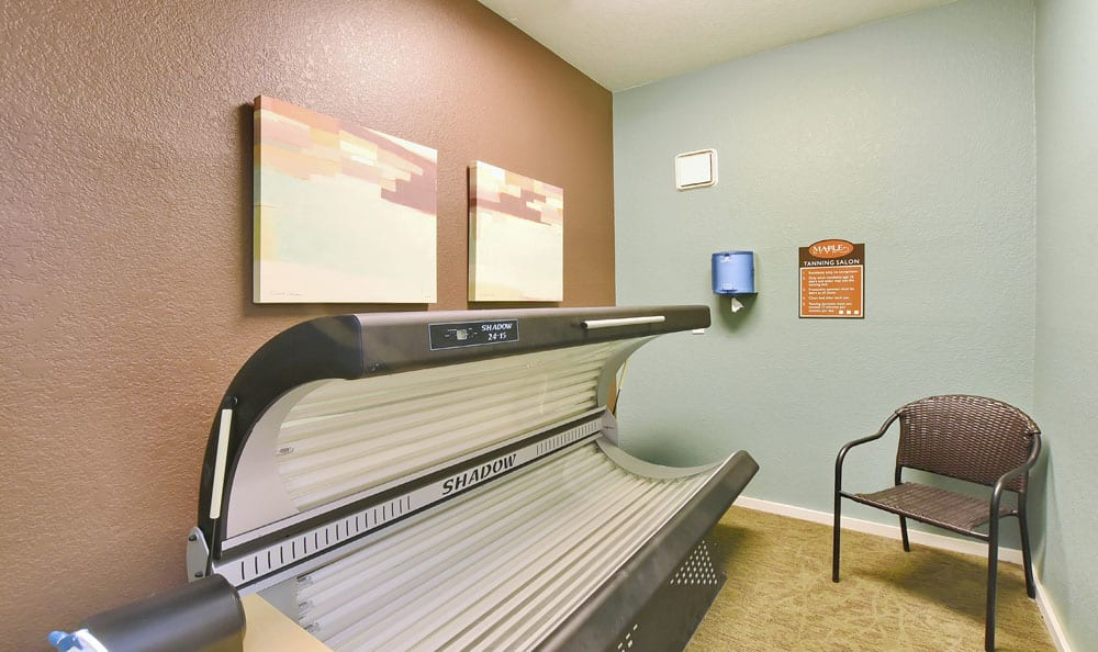 Tanning chamber At Maple Glen Apartments In Mountlake Terrace WA