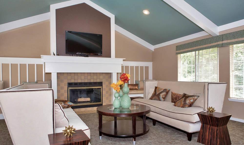 Living Room At Maple Glen Apartments In Mountlake Terrace WA