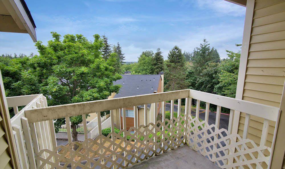 Balcony View At Maple Glen Apartments In Mountlake Terrace WA