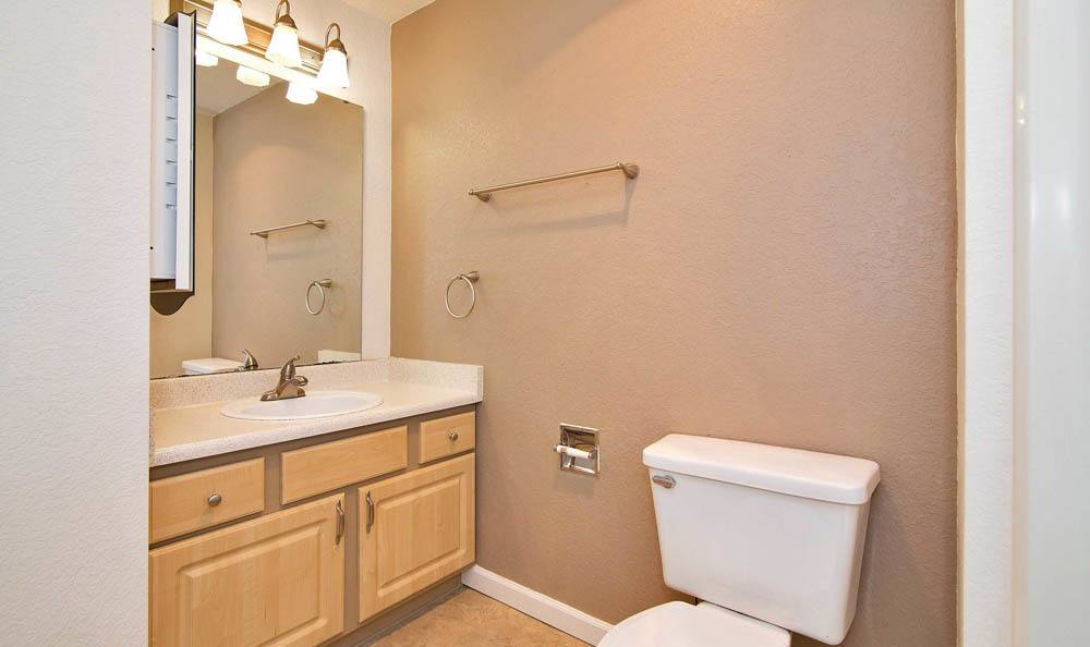 Bathroom at Maple Glen Apartments in Mountlake Terrace, Washington