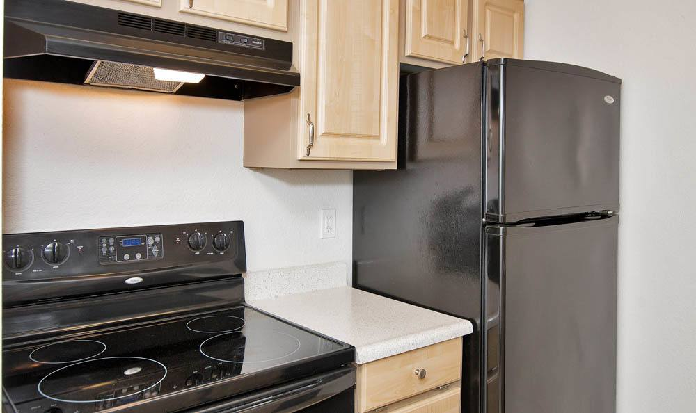 Modern kitchen at Maple Glen Apartments in Mountlake Terrace, Washington