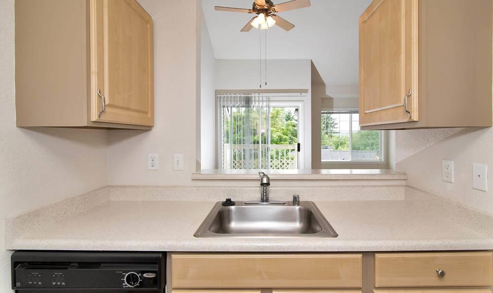 Kitchen sink at Maple Glen Apartments