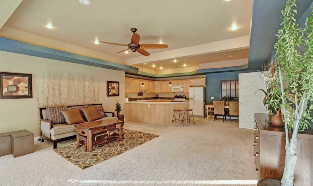 Beautiful living room at apartments in Tacoma, Washington