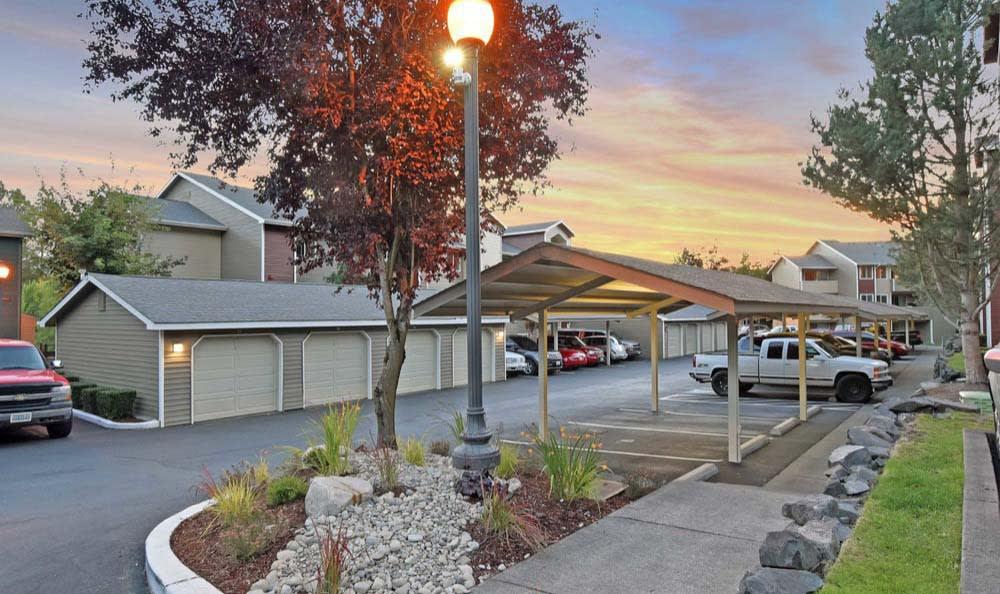 Exterior view At Aravia Apartments In Tacoma WA