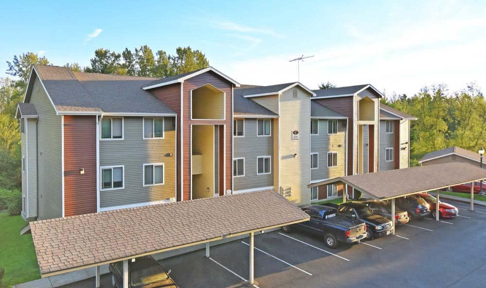 Parking Area At Aravia Apartments In Tacoma WA