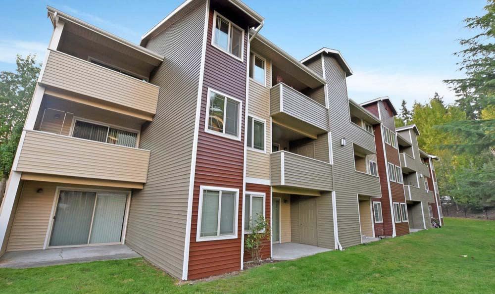 Private balconies At Aravia Apartments In Tacoma WA