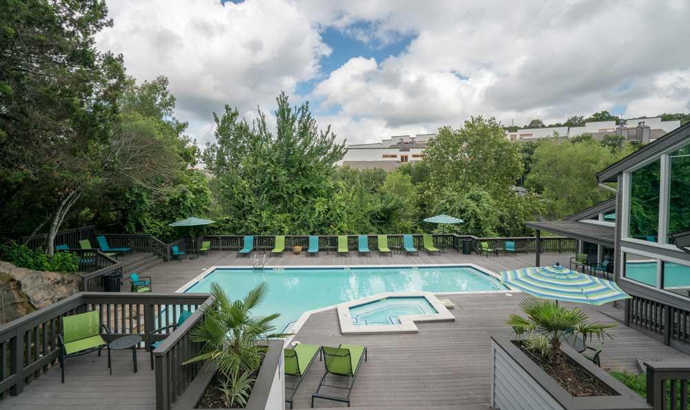 Pool At Falls on Bull Creek Apartments In Austin TX