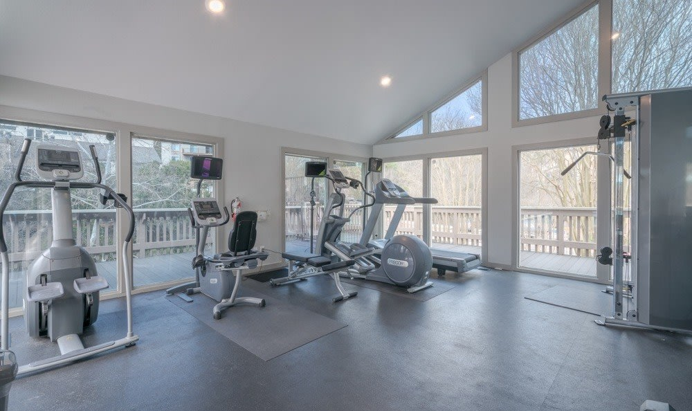 Fitness center at Falls on Bull Creek Apartments in Austin, Texas