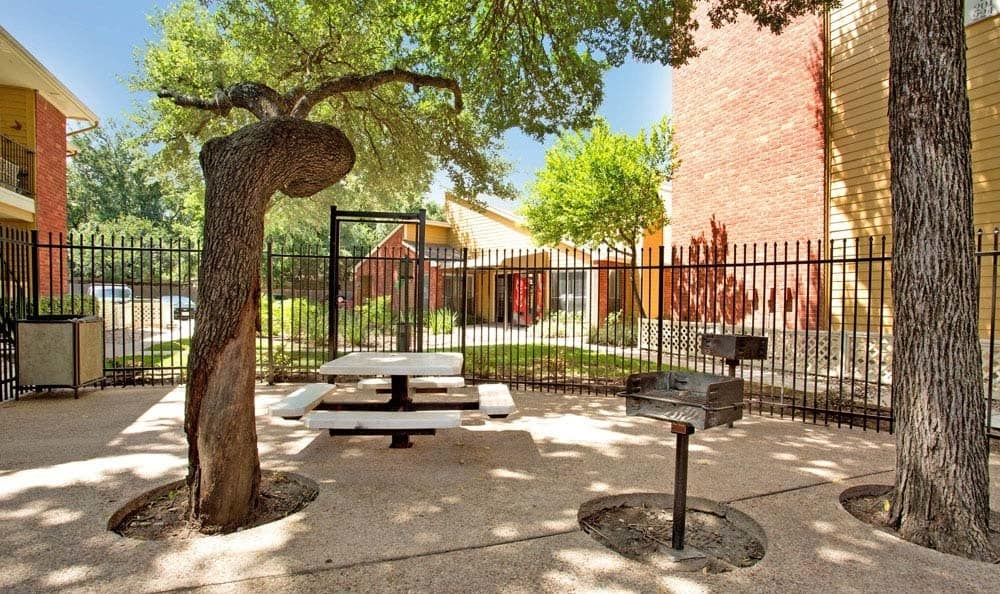 Chesapeake Apartments in Austin, Texas offers apartments with a private patio