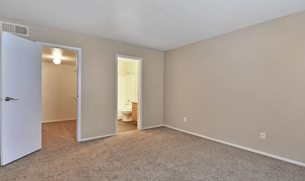 Chesapeake Apartments offers a spacious bedroom in Austin, Texas