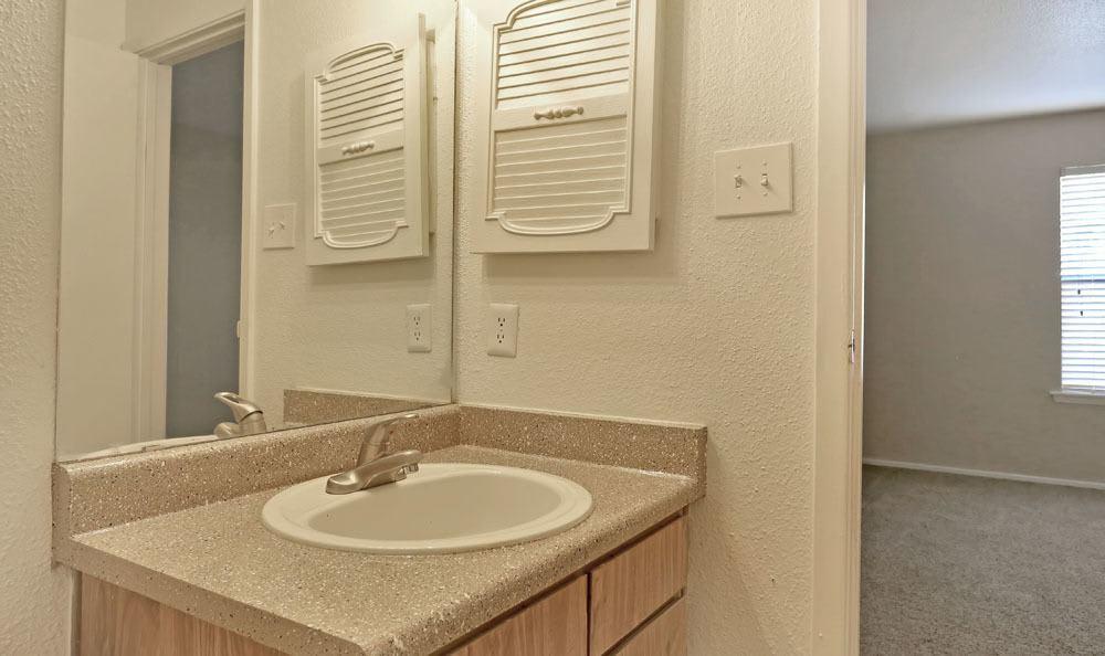 Our apartments in Austin, Texas showcase a spacious bathroom