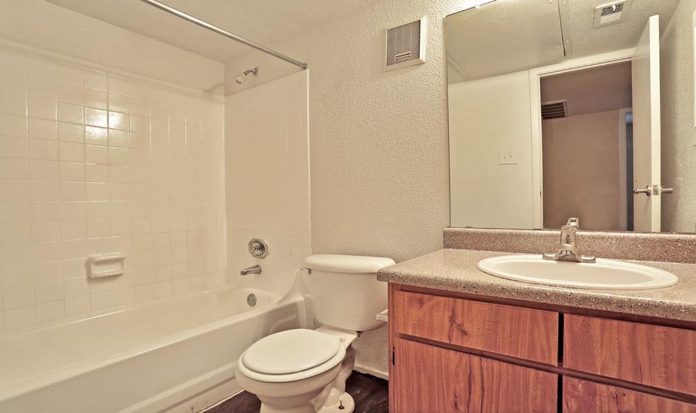 Spacious bathroom at Chesapeake Apartments in Austin, Texas