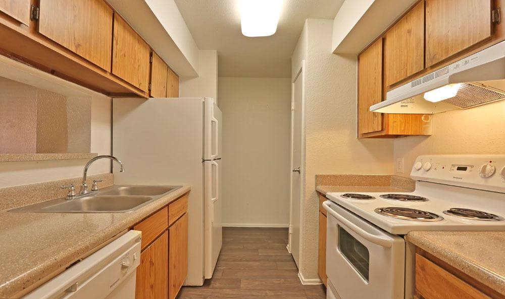 Kitchen at Chesapeake Apartments in Austin, Texas