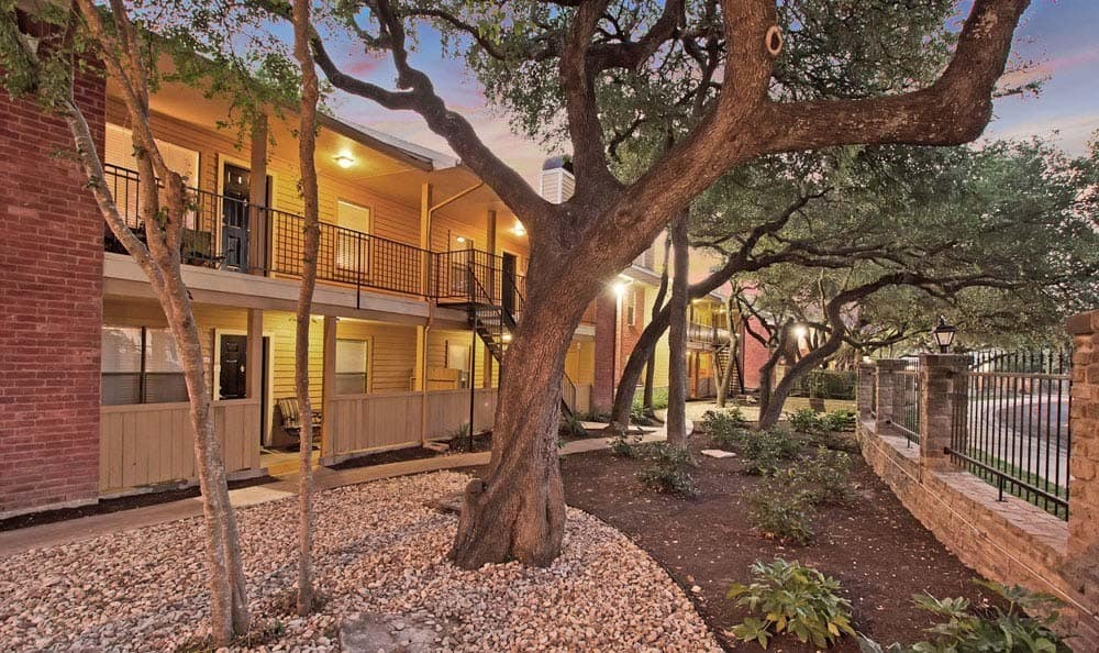 Private patio at apartments in Austin, Texas