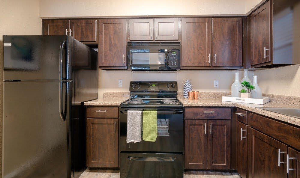 Northstar Apartments offers a kitchen in Austin, Texas