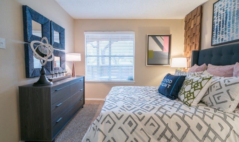 Northstar Apartments offers a beautiful bedroom in Austin, Texas