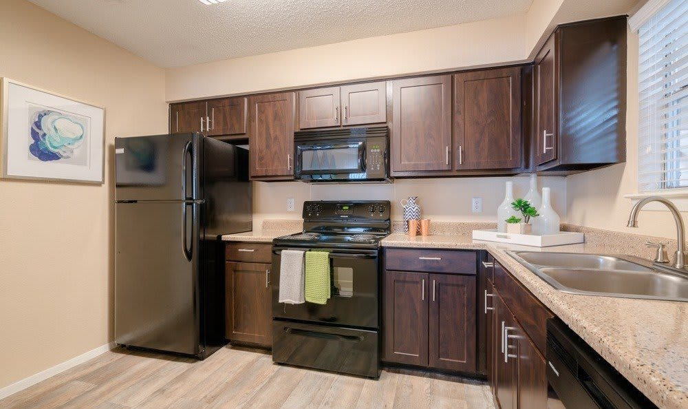 Beautiful Kitchen at Northstar Apartments in Austin, Texas