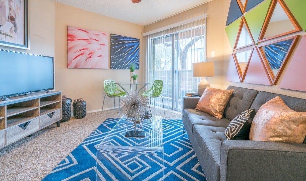 Beautiful living room at Northstar Apartments in Austin, Texas