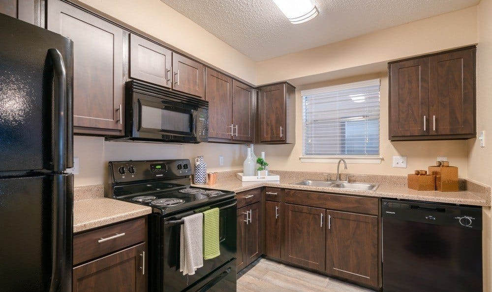 Kitchen at Northstar Apartments in Austin, Texas
