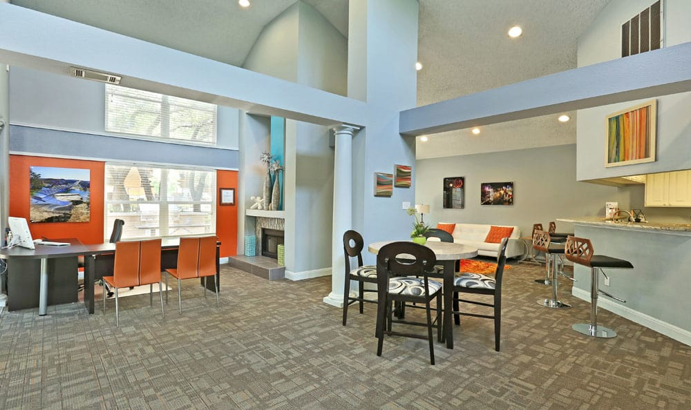 Clubhouse at Northstar Apartments in Austin, Texas