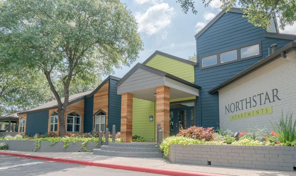 Front View clubhouse at Northstar Apartments in Austin, Texas