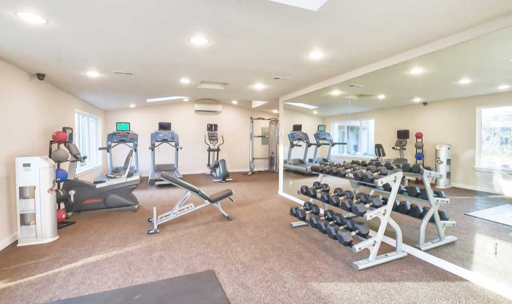 Fitness center at Pointe East