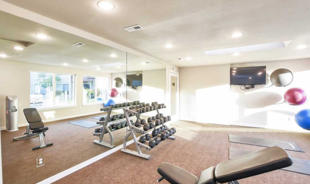Stay healthy in our well equipped fitness center at Pointe East