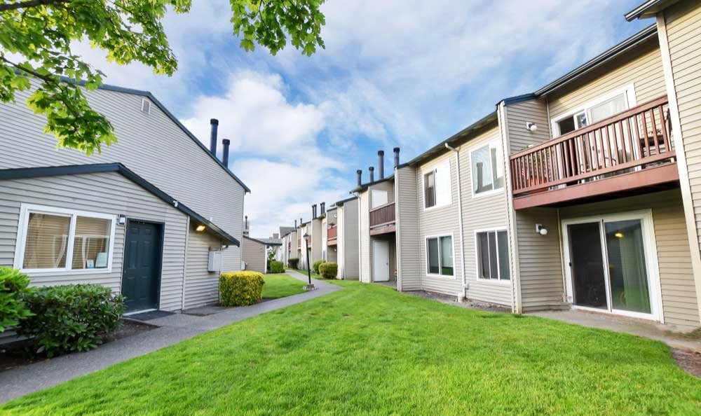 Well landscaped yards in Fife apartments for rent