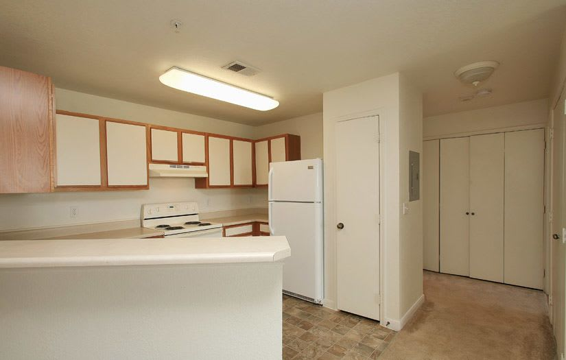 Kitchen at Centennial East Apartments in Englewood, Colorado