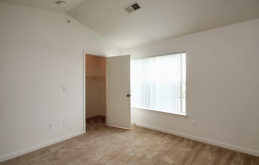 Spacious living room at Centennial East Apartments in Englewood, Colorado