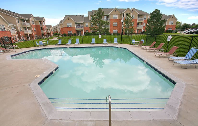 Swimming Pool At Centennial East Apartments In Englewood CO