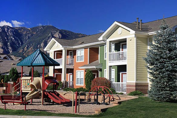 Apartment exterior at Westmeadow Peaks Apartments in Colorado Springs, CO
