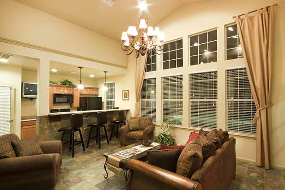 Clubhouse interior at Westmeadow Peaks Apartments in Colorado Springs, CO