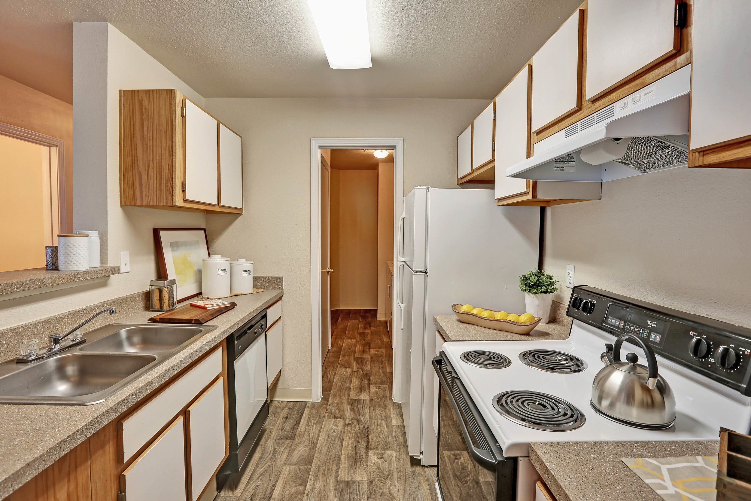 Beautiful kitchen at The Pines at Castle Rock Apartments in Castle Rock, Colorado