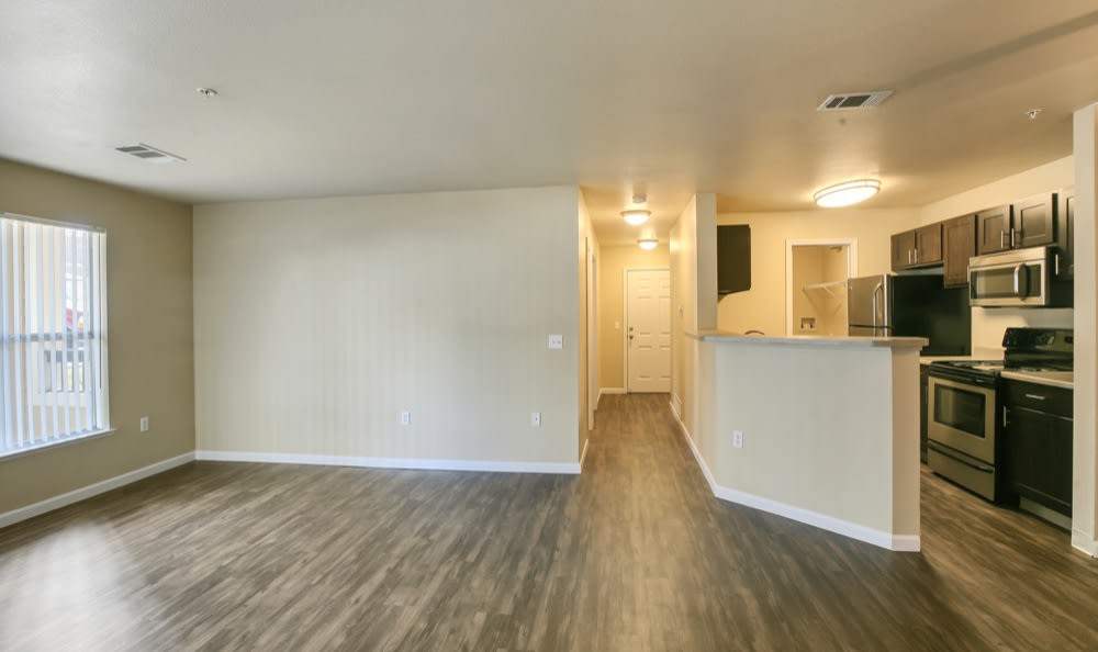 Nice hardwood floors in our Castle Rock, CO apartments