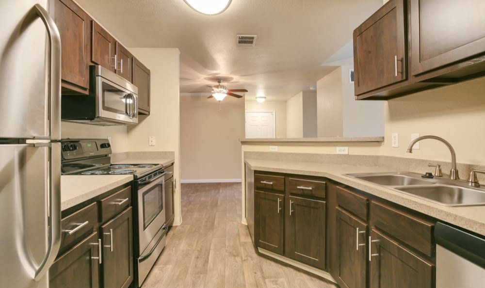 Modern appliances at apartments in Castle Rock