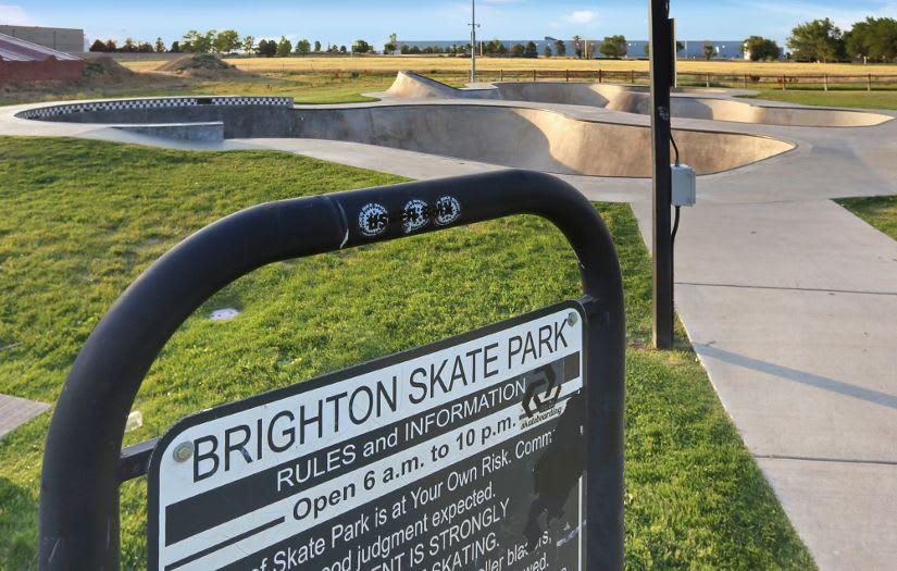 Skate park in Brighton, CO