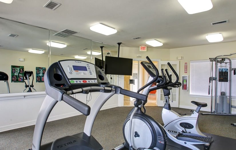 Fitness center at Sterling Park Apartments