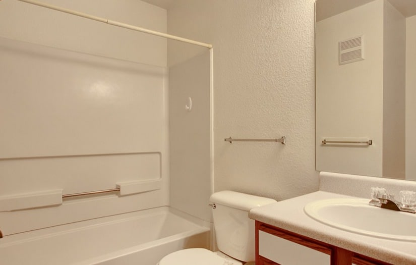 Bathroom of an apartment at Sterling Park Apartments