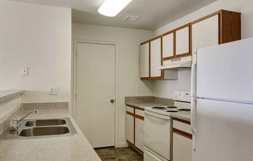Kitchen of an apartment at Sterling Park Apartments