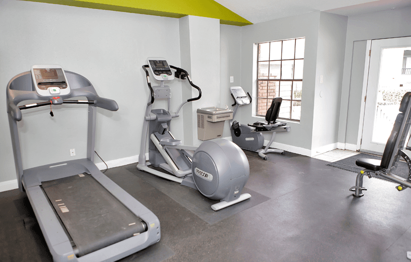 Another view of the fitness center at Promontory Point Apartments in Austin, TX
