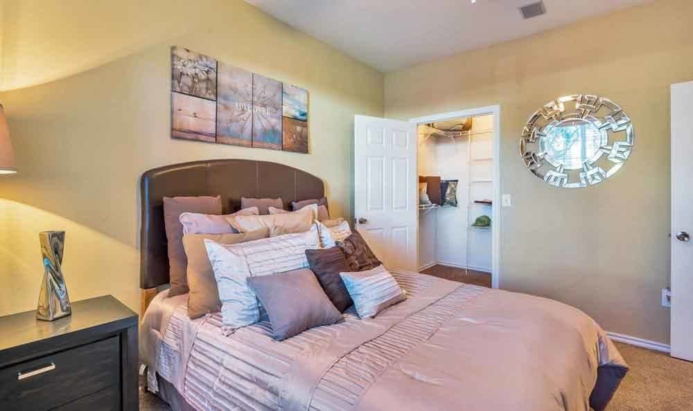 Beautiful bedroom at apartments in Spring, Texas