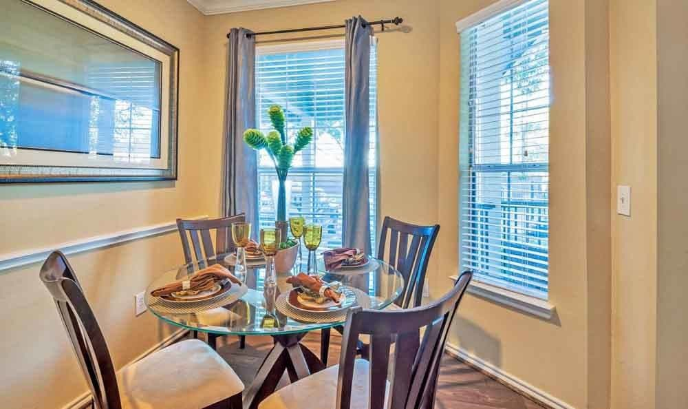 Lovely model dining room at Ravinia Apartments in Spring, Texas