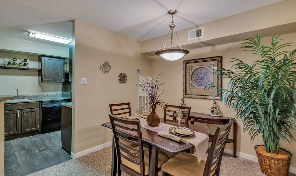 Spacious kitchen at apartments in Cypress, Texas