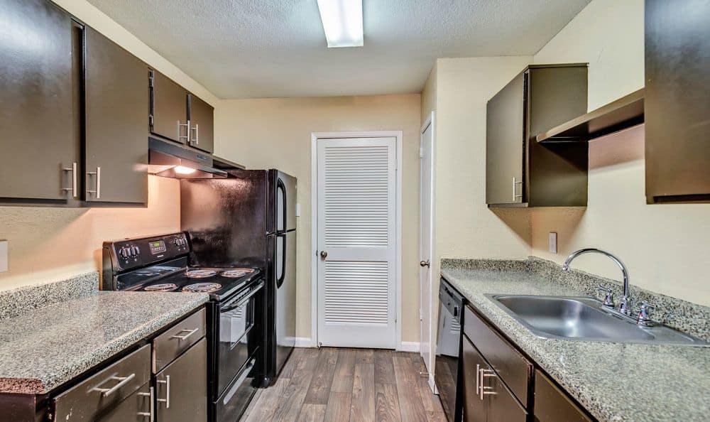 Our apartments in Cypress, Texas showcase a spacious kitchen