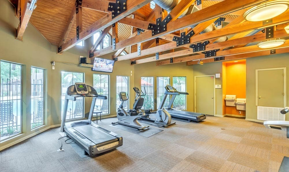 Fitness Center at The Point at Cypress Woods Apartments in Cypress, Texas